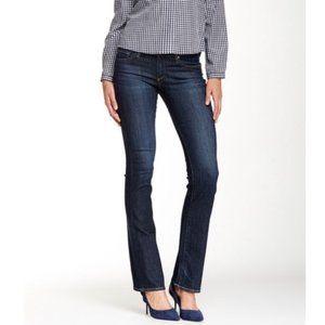 AG the Olivia dark wash skinny boot cut jeans
